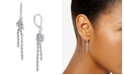 Charter Club Silver-Tone Knotted Chain Drop Earrings, Created for Macy's