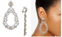 Nina Cubic Zirconia Scroll Motif Clip-On Drop Earrings