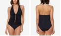Bleu by Rod Beattie Halter One-Piece Swimsuit