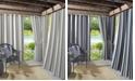 Lichtenberg Sun Zero Valencia Cabana Stripe Indoor/Outdoor UV Protectant Curtain Panel Collection