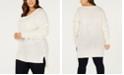 One A Plus Size Fringed-Sleeve Tunic Sweater