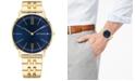 Tommy Hilfiger Men's Gold-Tone Bracelet Watch 40mm
