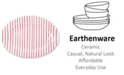 VIETRI Net & Stripe Red Stripe Medium Oval Platter