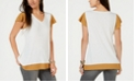Style & Co Layered Waffle-Knit Top