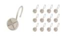 Elegant Home Fashions Shower Hooks - Forget Me Not - Brush Nickel