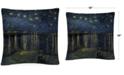 "Baldwin Vincent Van Gogh The Starry Night II 16"" x 16"" Decorative Throw Pillow"