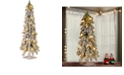 "National Tree Company National Tree 24"" Snowy Downswept Forestree with Metal Plate and 50 Clear Lights"