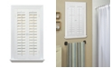 "US Shade & Shutter Plantation Faux Wood Interior Shutter, 23-25""  W x 24"""