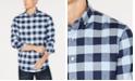 Club Room Men's Herringbone Plaid Pocket Shirt, Created for Macy's