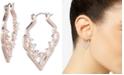 """Jenny Packham Crystal Decorative Medium 1-2/5""""  Medium Hoop Earrings"""