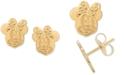 Disney Children's Minnie Mouse Head Stud Earrings in 14k Gold