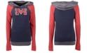 5th & Ocean Women's Ole Miss Rebels Big Logo Raglan Hooded Sweatshirt