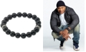 LEGACY for MEN by Simone I. Smith Onyx (10mm) Beaded Stretch Bracelet in Stainless Steel