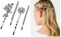 INC International Concepts I.N.C. Silver-Tone 4-Pc. Crystal Bobby Pin Set, Created for Macy's