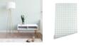 Deny Designs Holli Zollinger French Linen Grid Emerald 2'x8' Wallpaper