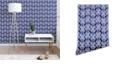 Deny Designs Schatzi Brown Justina Criss Cross Blue 2'x10' Wallpaper