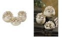 IMAX Blair Hand-sculpted Floral Boxes - Set of 3