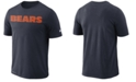 Nike Men's Chicago Bears Dri-FIT Cotton Essential Wordmark T-Shirt
