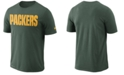 Nike Men's Green Bay Packers Dri-FIT Cotton Essential Wordmark T-Shirt
