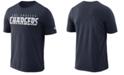Nike Men's Los Angeles Chargers Dri-FIT Cotton Essential Wordmark T-Shirt