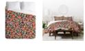 Deny Designs Holli Zollinger Zebrini Floral King Duvet Set