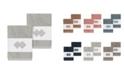 Linum Home Noah 2-Pc. Embellished Washcloth Set