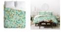 Deny Designs Heather Dutton Delilah Blue Twin Duvet Set