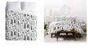 Deny Designs Heather Dutton Winter Wonderland White Twin Duvet Set
