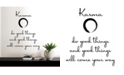 Brewster Home Fashions Karma Wall Quote