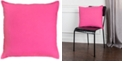 """Rizzy Home Solid 20"""" x 20"""" Poly Filled Pillow"""