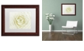 "Trademark Global Cora Niele 'White Persian Buttercup' Matted Framed Art, 11"" x 14"""