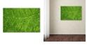 "Trademark Global Cora Niele 'Green Leaf Texture' Canvas Art, 12"" x 19"""