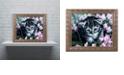 "Trademark Global Jenny Newland 'Bright Eyes' Ornate Framed Art, 11"" x 14"""