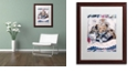 "Trademark Global Jenny Newland 'Kittens And Teddy Bear' Matted Framed Art, 16"" x 20"""