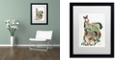 "Trademark Global Jenny Newland 'Pony Tails' Matted Framed Art, 16"" x 20"""