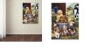 "Trademark Global Jenny Newland 'Puppy Hayday' Canvas Art, 24"" x 32"""