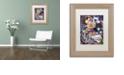 "Trademark Global Jenny Newland 'Kittens In Closet' Matted Framed Art, 11"" x 14"""