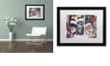 "Trademark Global Jenny Newland 'Cats In Window' Matted Framed Art, 16"" x 20"""