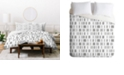 Deny Designs Holli Zollinger Bogo Mudcloth White Twin Duvet Set