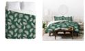 Deny Designs Holli Zollinger Urban Jungle Palm Twin Duvet Set