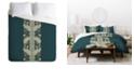 Deny Designs Holli Zollinger Chateau Peacock Twin Duvet Set