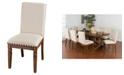 Sunny Designs Cornerstone Burnished Mocha Side Chair, Cushion Seat