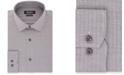 DKNY Men's Classic/Regular Fit Stretch Gray Check Dress Shirt