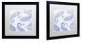 """Trademark Global Color Bakery 'Kasbah Blue Iv' Matted Framed Art, 16"""" x 16"""""""