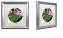 "Trademark Global Color Bakery 'Glassberry I' Matted Framed Art, 16"" x 16"""