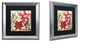 "Trademark Global Color Bakery 'Christmas In Paris I' Matted Framed Art, 16"" x 16"""