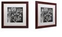 """Trademark Global Color Bakery 'Lake House V' Matted Framed Art, 16"""" x 16"""""""