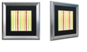 "Trademark Global Color Bakery 'Aria Iv' Matted Framed Art, 16"" x 16"""