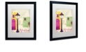 "Trademark Global Color Bakery 'Retro Cities Iv' Matted Framed Art, 16"" x 20"""