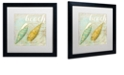 """Trademark Global Color Bakery 'Turquoise Beach Ii' Matted Framed Art, 16"""" x 16"""""""